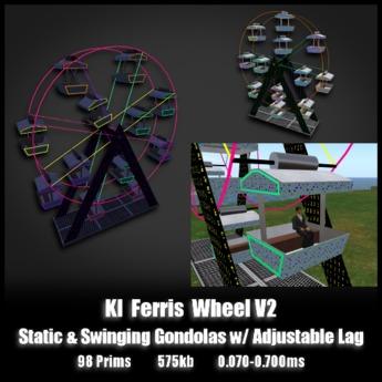 KI Ferris Wheel V2 *0.070-0.700ms* - Static and swinging gondolas