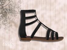 tulip. Gladiator Sandals (Black - SLink)