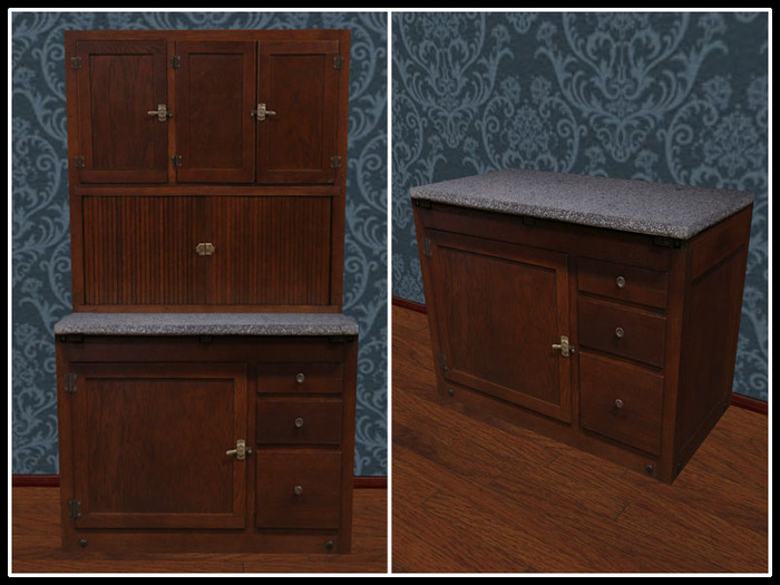 Second Life Marketplace Re Roll Top Kitchen Cabinet Cooking