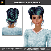 A&A Nadira Hair Trance (Special Color). Elegant updo with curls, 2 sets show/hide streaks. Promo Price!