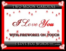 I LOVE YOU MESH WORDING WITH FIREWORKS