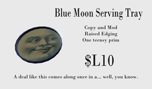 Blue Moon Serving Tray