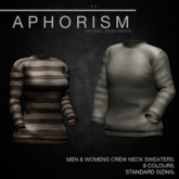 !APHORISM! Crew Neck Sweater Demo