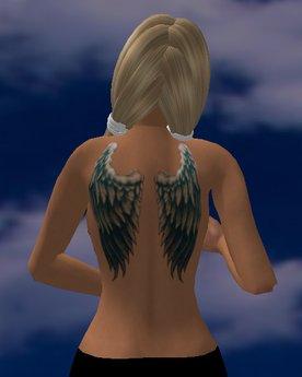 Tattoo rücken engelsflügel