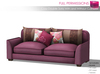 MI87133 Cozy Double Sofa With and Without Cushions