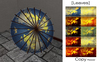 [ity.] China - Parasol (Leaves) With pose. 10 textures