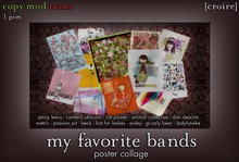 [croire] My Favorite Bands (Indie Hipster Alternative Music Poster Collage) ONLY 1 PRIM!