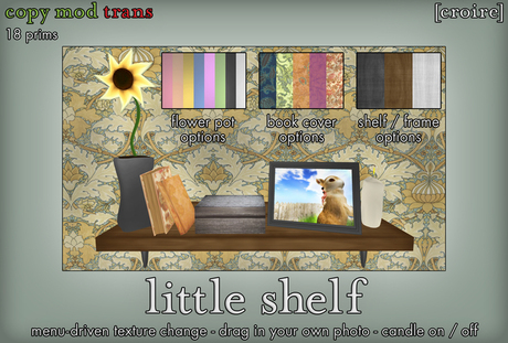 [croire] Little Shelf (color options, drag your own pictures, everything included) Cute hipster indie boho decor.