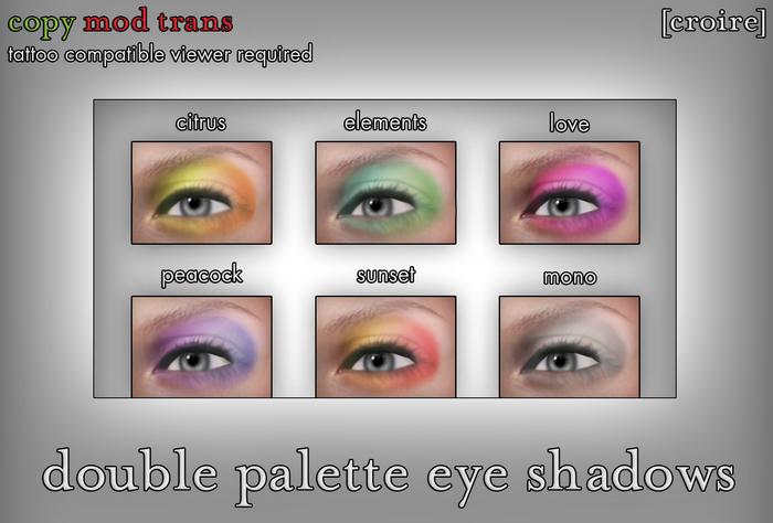 [croire] Double Palette Eye Shadow Set (6 Eye Shadow Tattoo Makeup Layers)