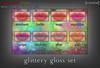 [croire] Glittery Gloss (8 glittery lip gloss tattoo layers)