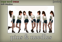 [croire] Pins & Needles (set of static photography/model/blogger/fashion poses, standing)