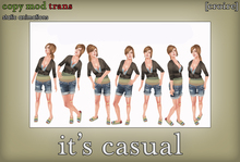 [croire] It's Casual (set of static photography/model/blogger/fashion poses, standing)