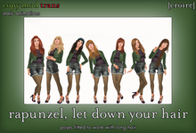 [croire] Rapunzel, Let Down Your Hair (set of static photography/model/blogger/fashion, standing, long hair poses)