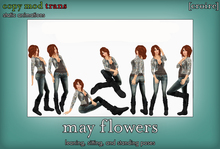 [croire] May Flowers (set of static photography/model/blogger/fashion poses, standing, sitting, laying)