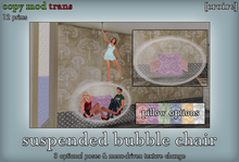 [croire] Hanging Bubble Chair (color change options, 3 poses) Modern, futuristic, chic, minimalist, pose prop, ceiling
