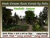 Mesh Dream Rock Forest 244 Prim 64x64m Size copy/mody