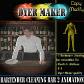 Bartender Cleaning Bar Animation Copy