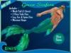 =LunaSea= Merman Outfit - Green Seafern (5 Sizes)