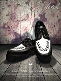 Bleich - Mesh Unisex Creepers B/W Leather_Single
