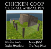 Rustic Small Animal Pen or Coop