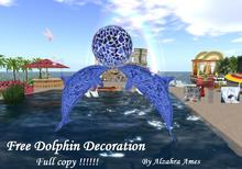 Free Dolphin Decoration by Alzahra Ames