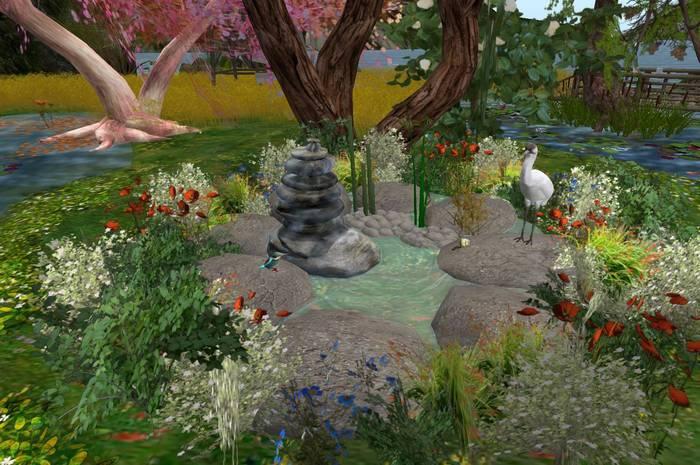 CJ Paradise Pond full of Flowers + Animals ~ c + m -