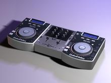 DJ Console with Decks and Mixer DrakainMixx MDX2000