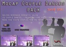 33% PROMO! VISTA ANIMATIONS-MOCAP COUPLES ADDON DANCE PACK1- SALSA & BOLERO & MERENGUE