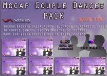33% PROMO! VISTA ANIMATIONS-MOCAP COUPLES ADDON DANCE PACKx6
