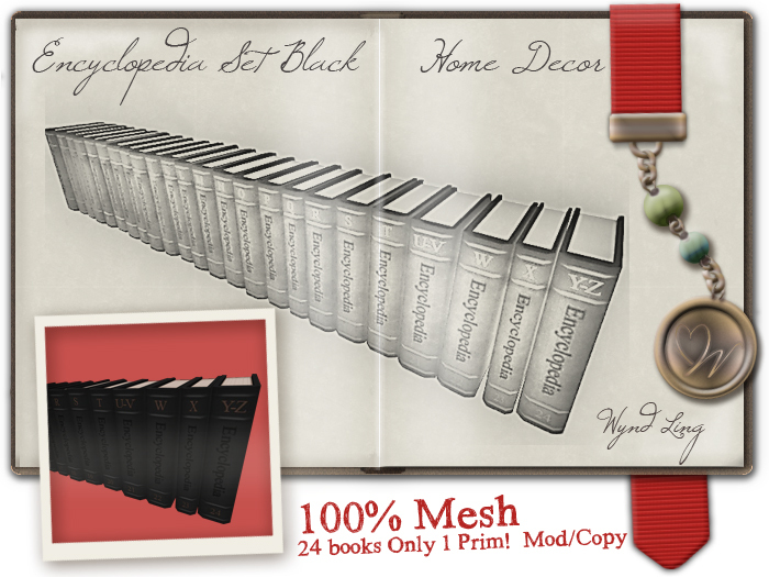 -W-[ Encyclopedia Set ] 100% Mesh Black Books (mod/copy)
