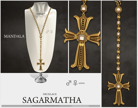 UNISEX[MANDALA]Sagarmatha_Necklace_Gold
