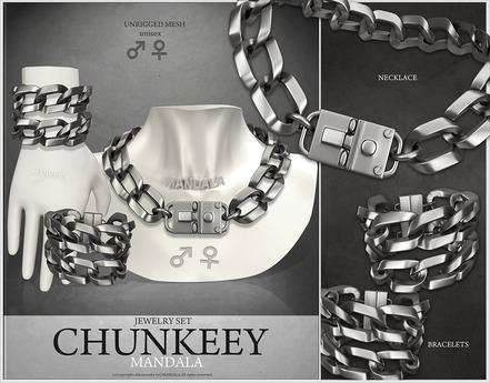 UNISEX[MANDALA]Chunkeey_Jewelry_Set_Silver