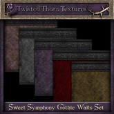 ~TTT~ Sweet Symphony Gothic Walls Set 2 (With Trim)