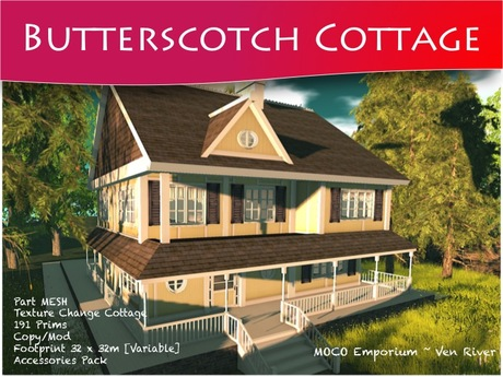Moco Emporium -  BUTTERSCOTCH Cottage - Texture Change COPY/MODIFY