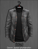 {Fe Style} Gray Denim Jacket w/Shirt /Black