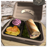 Special price marketplace !! Follow US !! Meal box - Strawberry cupcake COPY version