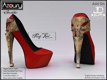 AZOURY - Succubus Heels (Fiery Red)