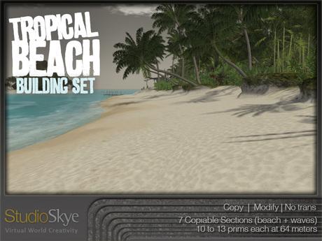 NEW+  Tropical Beach Building Set from Studio Skye 100% MESH