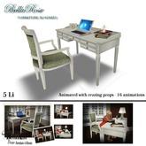 Bellarose Mesh Desk & Chair and Clock - ANIMATED