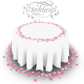 Pink Rose Petal Wedding Table - Reception Table - Trans Only