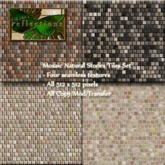 Mosaic Natural Stones Tile Set Seamless PROMO