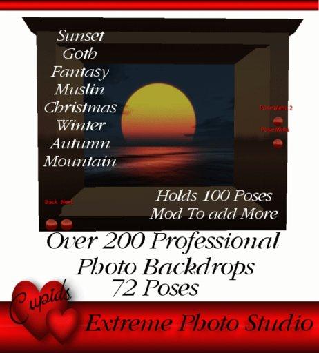 Extreme Photo Studio 72 Poses 200 Backdrops 50% off SALE