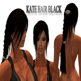 "Women hair "" Kate+Hair clip "" black long hair girl hair Tomb Raider ponytail female hair Zopf Pferdeschwanz long hair"