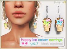 Happy Ice Cream Earrings