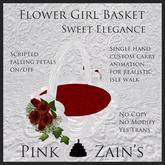 Sweet Elegance - Flower Girl Basket - Red [Boxed]