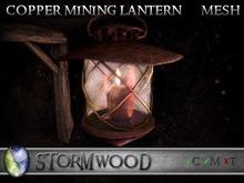 Stormwood: Mesh Copper Mining Lantern