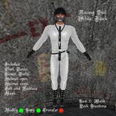 Racing Suit White Black