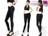 Mesh womens skinny pants with rivets