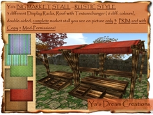 *Ya's* Big Market Stall -Rustic Style- 3 Prim / Copy+Mod