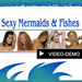 Very sexy mermaid with voice  DEMO